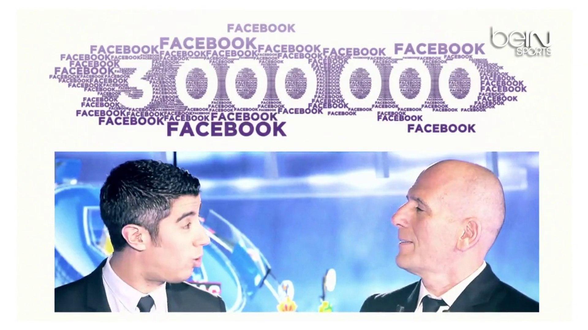 beIN SPORTS célèbre ses 3 000 000 de fans sur Facebook et ses 500 000 followers sur Twitter !