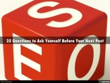 Judah Blumenthal - 25 Questions To Ask Before You Write Your Next Blog Post