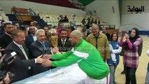 """لاعبو """"سبورتنج"""" من بورسعيد : """"صباح الخير صباح النصر .. احنا ملوك السلة في مصر"""""""