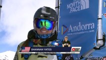 Run of Shannan Yates (USA) - Swatch Freeride World Tour 2015 in Vallnord Arcalis (AND) By The North Face