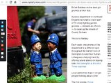 CRIME FIGHTING GARDEN GNOMES serve in English town County Durham Police Service