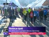 Competiţia din România, unică în Europa. Peste o sută de sportivi amatori s-au întrecut la Maratonul Zăpezii de la Râşnov. Traseul, de 42 de kilometri prin zăpadă, testează rezistenţa participanţilor de toate vârstele.