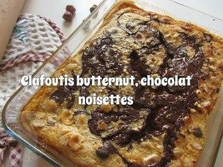 Recette Clafoutis à la butternut, chocolat et noisettes