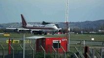 Kalitta Air Boeing 747-200F départ de l'aéroport international de Dublin en Irlande