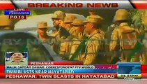 Twin Blasts In Peshawar Mosque During Prayer Breaking News Today February 13, 2015