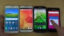 Android 5.0 Lollipop Samsung Galaxy S5 vs. Galaxy S4 vs. Galaxy S3 vs. Galaxy S2 - Which Is Faster