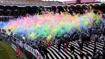 Magnifique tifo coloré des supporters des Girondins de Bordeaux (Bordeaux vs. Saint Etienne)