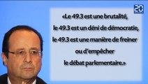 Hollande, farouche opposant à l'article 49-3