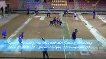 Premier tour, tir rapide en double, Saint-Vulbas contre Fontaine, Sport Boules, J8 Elite Féminine, Saison 2014 /2015