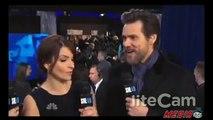 Jim Carrey Awkward Brian Williams Joke On  SNL 40 Red Carpet (VIDEO)
