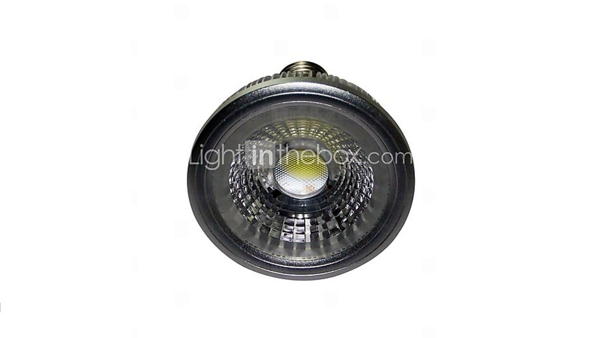 С регулируемой яркостью PAR30 E27 7w початка 700lm 3000K теплый белый водить пятна свет лампы (AC220