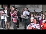 Napoli - Il carnevale di Scampia  GRIDAS per la scuola pubblica (15.02.15)