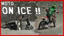 Essai Honda Crossrunner, courses moto sur glace : Oui, on peut rouler l'hiver !!