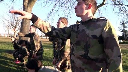 Les élèves de l'IDRAC à l'armée