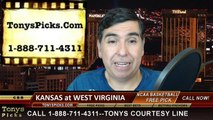 West Virginia Mountaineers vs. Kansas Jayhawks Free Pick Prediction NCAA College Basketball Odds Preview 2-16-2015