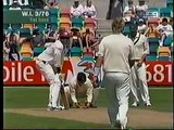 Chris Gayle One handed 6 runs off Shane Warne, 2nd Test 2005