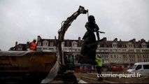 Beauvais : la statue de Jeanne Hachette s'envole