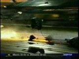 dragster crash à haute vitesse
