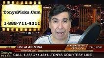 Arizona Wildcats vs. USC Trojans Free Pick Prediction NCAA College Basketball Odds Preview 2-19-2015