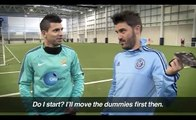 Blindfolded Penalty shoot-out | Sergio Aguero vs David Villa | Challenge 1
