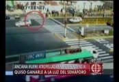 Independencia: Anciana falleció después de cruzar imprudentemente la avenida Túpac Amaru [VIDEO]