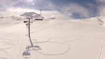 """Un """"artiste"""" a fait un dessin géant dans la neige sur les pistes de ski de Tignes"""