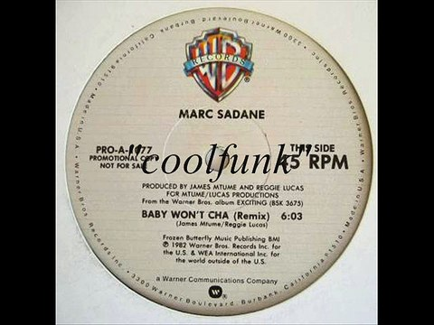 "Marc Sadane - Baby Won't Cha (12"" Remix 1982)"
