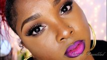 Full Face make up tutorial -Neutral eyesbold lashes & Ombre` lips - REQUESTED (Low)