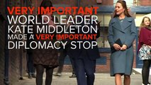 Kate Middleton Visits Pottery Factory