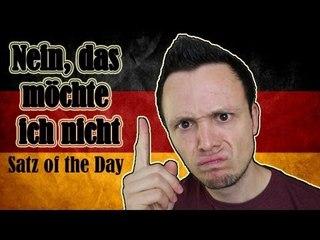 Nein, das möchte ich nicht! - German Sentence of the Day