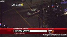 Southern California High Speed Police Pursuit Armed Shooting Suspect Reckless Driving