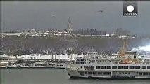 Istanbul au ralenti en raison de fortes chutes de neige