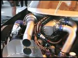 4 rotor rotary engine in a BMW - RX7 motor drag racing