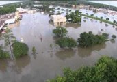 Drone Footage Shows Severe Flooding in Houston Suburb