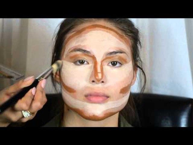 Contouring & Highlighting- Kim Kardashian's Makeup secret!