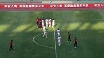 Chongqing goalie concedes COMEDY goal after water break