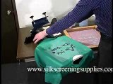 Screen Printing one color printing video 1 - How to screen print.
