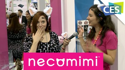 Necomimi Cat Ears Powered By Your Brainwaves! CES 2013