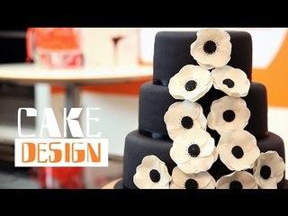 Gâteau de mariage noir et blanc - Cake design : La déco c'est du gâteau !