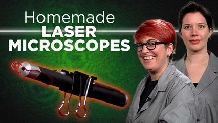 See Bacteria with a DIY Laser Microscope