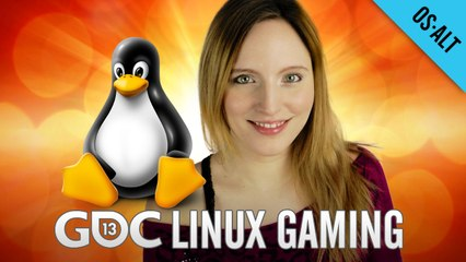 Tux Joins the Race @ GDC 2013 - Linux Gaming!