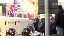 Belfast VIOLENT CLASHES: Loyalists VIOLENTLY ATTACK POLICE as riots over union FLAG DISPUTE