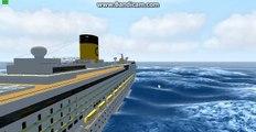 Costa Pacifica Sinking  Cruise ship sinking costa pacifica,virtual sailor sinking