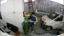 Dry Ice Bomb explosion prank at work