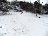 2010 제주 한라산 눈썰매 : Sledging in the snow in Mt. Halla, Jej u