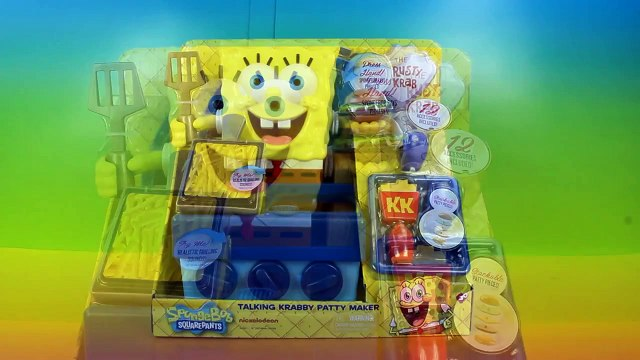 Spongebob Squarepants Talking Krabby Patty Maker with Spongebob Make a Krabby Patty!