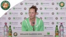Conférence de presse Samantha Stosur Roland-Garros 2015 / 2e Tour