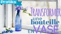 DIY - Comment recycler une bouteille en plastique en vase