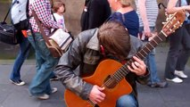 William Cashel Guitarist Festival Fringe Royal Mile Edinburgh Scotland August 4th
