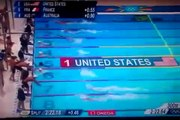 Finale relais natation 4x100m JO london 2012